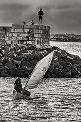 I caught one!! (garylestrangephotography) Tags: black blackandwhite white grey monochrome mono monotone garylestrangephotography howth dublin ireland sea seascape landscape boat fishing pier fisherman leisure sport evening canon eos streetphotography