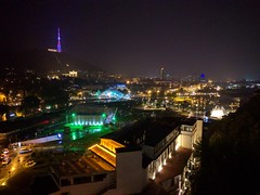 Tbilisi Night View (VicunaR) Tags: georgia tbilisi tiflis nightview fountain ropeway tv tower rikepark