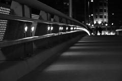stoale_s2 (samanthatoalephotography) Tags: night black white blackandwhite bw downtown downtowncolumbus ohio columbusohio light dark darkness city bridge path