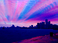 Sunset Timestack - hundreds of frames shot and blended on iPhone 5 ((Jessica)) Tags: timestack timelapse timestacking blended sunset iphone iphone5 ilapse cloud trails clouds colorful skyline pier chicago lake michigan sky vibrant iphoneography shotoniphone mobile smartphone navypier longexposure longexposureeffect