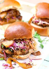 Grilled Chicken Slid (alaridesign) Tags: grilled chicken sliders with bbqcarmelized onions chipotle coleslaw