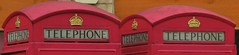 TELEPHONE X TWO (conespider) Tags: telephones boxes red street london england uk gb outdoor outside 2016 nikon crown