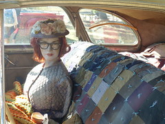 Georgeann Johnson (bballchico) Tags: 1941 buick buickeight georgeannjohnson billetproof billetproofantioch carshow 1940s woman mannequin babe