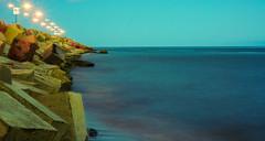 ESTREXO D MAGAYANES XD (Rodrigo Sa) Tags: estrechodemagallanes mar azul celeste tarde atardecer rocas cuadrados largaexposicin 50mm 75mm nubes efectonubes efectoseda seda sedoso horaazul sea blue lightblue afternoon sunset rocks squares longexposure clouds silk bluehour landscape
