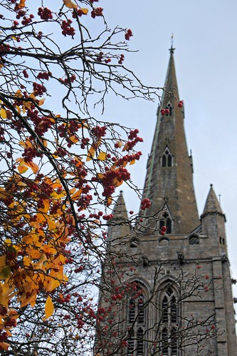 All Saints Oakham in autumn