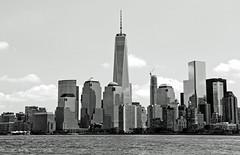 One World Trade Center from ferry (cmfgu) Tags: newyorkcity nyc newjersey nj jerseycity libertystatepark newyork ny ferry oneworldtradecenter freedomtower boat