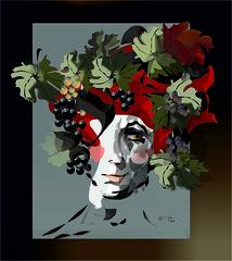 Baco (Amparo Hign) Tags: bacco caravaggio digital art