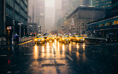 Snow Season is almost here, Are you Ready? (RomanK Photography) Tags: manhattan nyc newyorkcity parkave street streetphotography streettogs snow snowstorm sonyalpha taxi yellowcab