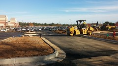Looking down the extended strip center drive (Retail Retell) Tags: kroger marketplace v478 hernando ms desoto county retail construction expansion project