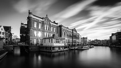 A view over the Rokin canal (miguel_lorente) Tags: blacknwhite longexposure rokin netherlands buildings bw street water bnw city cityscape holland blackandwhite amsterdam canals