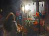 pretzel (albyn.davis) Tags: people street light steam shopping colors night city urban nyc newyorkcity manhattan