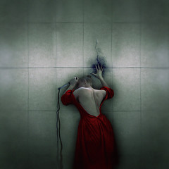 soft as stone (sparkbearer) Tags: fineartphotography 365project chelseaknight spooky surreal red knife darkart ink blood