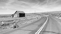 Wherever The Road Goes... (John Westrock) Tags: canoneos5dmarkiii pacificnorthwest blackandwhite road abandoned landscape rural curve washingtonstate ritzville washington unitedstates us