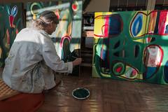 F4539 ~ State of the Art... #CristinaValadas #portrait #retrato (Teresa Teixeira) Tags: porto cristinavaladas painter illustrator atelier newwork cristinaispaintingagain teresateixeira portrait retrato