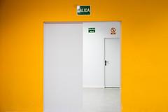 The Yellow to White Exit (lucas2068) Tags: yellow white door exit amarillo blanco salida puerta manises valencia spai espaa
