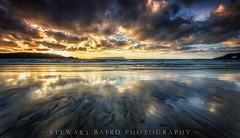 Reflecting (stewartbaird) Tags: sea plimmerton beach newzealand sunset summer nature clouds sundown surf waves manaisland landscape rest beachsea