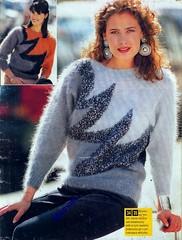 Sandra 1991-08_07 (Homair) Tags: vintage sweater sandra fuzzy fluffy mohair