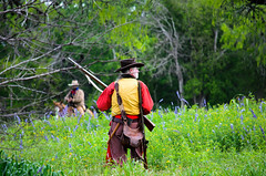 27th Annual Goliad Massacre (Tejas Cowboy) Tags: horse la costume texas massacre candid tx bahia annual reenactment presidio texan 27th goliad 1836 texican