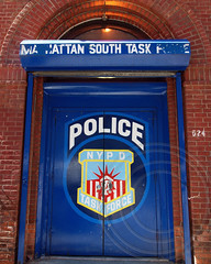NYPD Manhattan South Task Force Police Station, Clinton, New York City (jag9889) Tags: county city nyc blue house ny newyork building station force manhattan clinton north police nypd company borough mn department lawenforcement finest task manhattansouth firstresponders 2013 newyorkcitypolicedepartment mstf jag9889