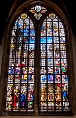 Oude Kerk - Glasmalerei Fenster (SK snapshots) Tags: windows holland color art window colors amsterdam colorful fenster kunst kirche colored glasmalerei bunt oudekerk niederlande glasmalereifenster