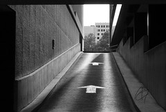 (ATGphotoSA) Tags: bw san downtown arrows antonio monocrome