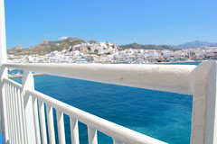 View from Ferry - Naxos, Greece (The Web Ninja) Tags: ocean old travel cruise blue history nature water beautiful ferry island greek photography boat ancient scenery aqua harbour teal aegean scenic explore greece railing paros explored aegeanseat