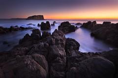 Minnamurra Pre Dawn Seascape (stevoarnold) Tags: seascape sunrise rocks australia nsw newsouthwales minnamurra illawarra stackisland