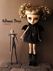 Halloween Dress ( DOLLS) Tags: halloween jack handmade custom ween timburton pesadillaantesdenavidad obitsu customag customangelgate dollslahabitacindelossueos