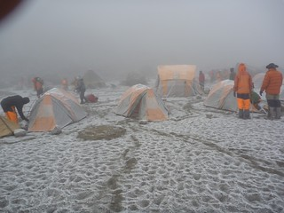 A snowy Crater Camp