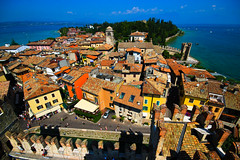 view from the castle of Sirmione - Italy (Lior. L) Tags: from city travel sky italy lake color castle water colors weather clouds canon lago italia colours view sigma wideangle citycenter canondslr sirmione lakegarda bildings greatweather ultrawideangle sigma1020 travelinitaly canon600d canont3i canonkiss5 travelinitalia
