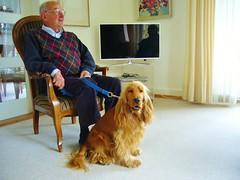 Alter Mann mit Hund (fotografierenderpunk) Tags: old dog man hund human mann alter mensch