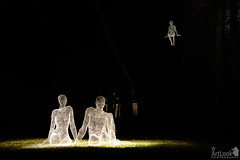 Illuminated Family by Cedric Le Borgne in Tsaritsyno Park (Guide, driver and photographer in Moscow, Russia) Tags: family russia moscow ru sculptures tsaritsyno circleoflight lightsculptures cedricleborgne