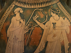 and the music goes - II (egisto.sani) Tags: ceramica ceramic greek athens attic pottery rhodes rodi dei vases attica greca red atene museum pelike museo figure painter archaeological pig figure rosse porci vasi greci archeologico pittore vision:text=0599