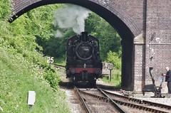 78019, Standard Class 2 at Leicester North, 26th May 2013 (OG47) Tags: smoke steam locomotive steamengine 260 mogul steamlocomotive greatcentralrailway gcr railwayengine uksteam 78019 brstandardclass2 pentaxk5