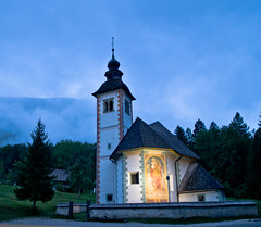 Bohinj Church (stastie) Tags: morning lake church architecture sunrise pentax slovenia bohinj k30