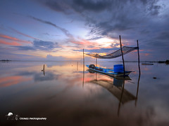 this is Jubakar.. (TOREX PHOTOGRAPHY) Tags: travel sea sky seascape beach nature colors clouds sunrise reflections landscapes boat nikon asia southeastasia natural laut malaysia resting hdr pantai kelantan tumpat sigmalenses d7100 scenicsnotjustlandscapes jubakar torexphotography