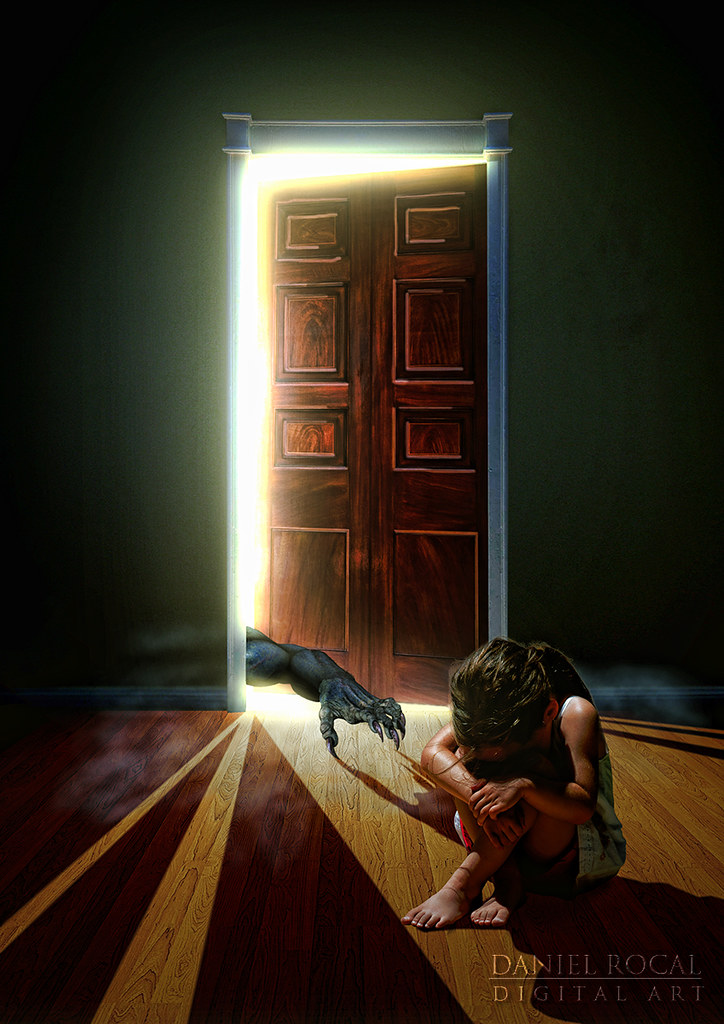 Nightmare (Daniel Rocal) Tags: Door Light Luz Girl Monster Night Closet  Noche Kid