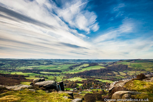 Looking out over Curbar Edge