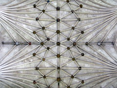 The Lady Chapel ceiling (detail), Ely Cathedral, Ely, Cambridgeshire, England (Hunky Punk) Tags: uk england architecture gothic churches cathedrals medieval roofs ely bosses middleages cambridgeshire ceilings decorated lierne vaulting ladychapel hunkypunk spencermeans