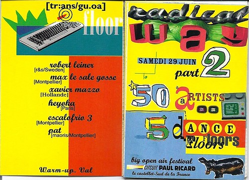 "Patrice Heyoka - Flyer 29/06/1996 - ""Radical Way 2"" @ Le Castelet <a style=""margin-left:10px; font-size:0.8em;"" href=""http://www.flickr.com/photos/110110699@N03/11337197646/"" target=""_blank"">@flickr</a>"