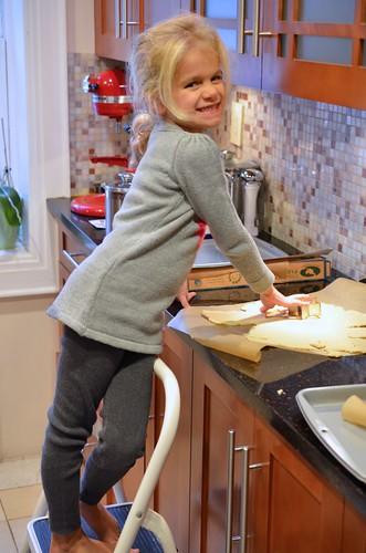 Violet Making Christmas Cookies