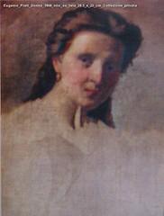 Eugenio Prati Donna 1868 olio su tela 28.5 x 23 cm Collezione privata