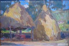 Romualdo Prati Covoni olio su cartone 24x36cm Collezione privata