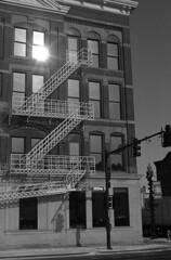 400TX:365 - Week 50 - Lovely Downtown Findlay (.:Axle:.) Tags: city ohio urban bw slr film project town blackwhite nikon downtown kodak trix hc110 400tx historic findlay nikonf3 filmphotography kodaktrix400 fpp imaginethat asa320 themecca dilutione logansirishpub aisnikkor50mm114 filmphotographypodcast believeinfilm 52rollsnet 400tx365 52rollproject