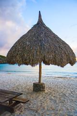 Playa Cas Abou, Curaao (jeandubrulee) Tags: sunset netherlands umbrella playa parasol curacao curaao cas antilles abou