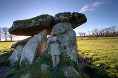Haroldstown Dolmen and Archer (backpackphotography) Tags: ireland megalithic tomb portal dolmen carlow portaltomb haroldstown backpackphotography haroldstowndolmen haroldstownportaltomb