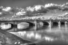 Putney Bridge with Swans (ArtGordon1) Tags: uk bridge winter england london thames swans lowtide riverthames allsaintschurch putneybridge davegordon davidgordon artgordon1 daveartgordon daveagordon davidagordon