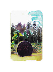 hay bale discovered (Josh Torin) Tags: newyorkcity trees portrait sky cold illustration rural watercolor subway landscape miniatures landscapes miniature woods view joshua farm air scene josh fields farms wilderness adventures gouache plein metrocard narrative torin fable haybales pictorial anthropomorphic guache animism miniaturepainting animistic hieronymus pocketart narrativeart joshtorinmckeon hieronymusjosh metrocardminiatures metrocardpaintings