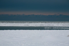 Ominous (peterkelly) Tags: christmas winter cloud lake snow ontario canada ice water clouds digital cloudy greatlakes northamerica lakehuron grandbend southcottpines