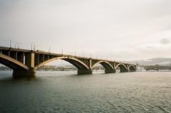 bridge (f x d b b b t) Tags: winter film analog 35mm kodak iso400 contax siberia portra t2 contaxt2 krasnoyarsk krsk